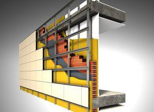 Las diferentes partes que conforman una fachada ventilada